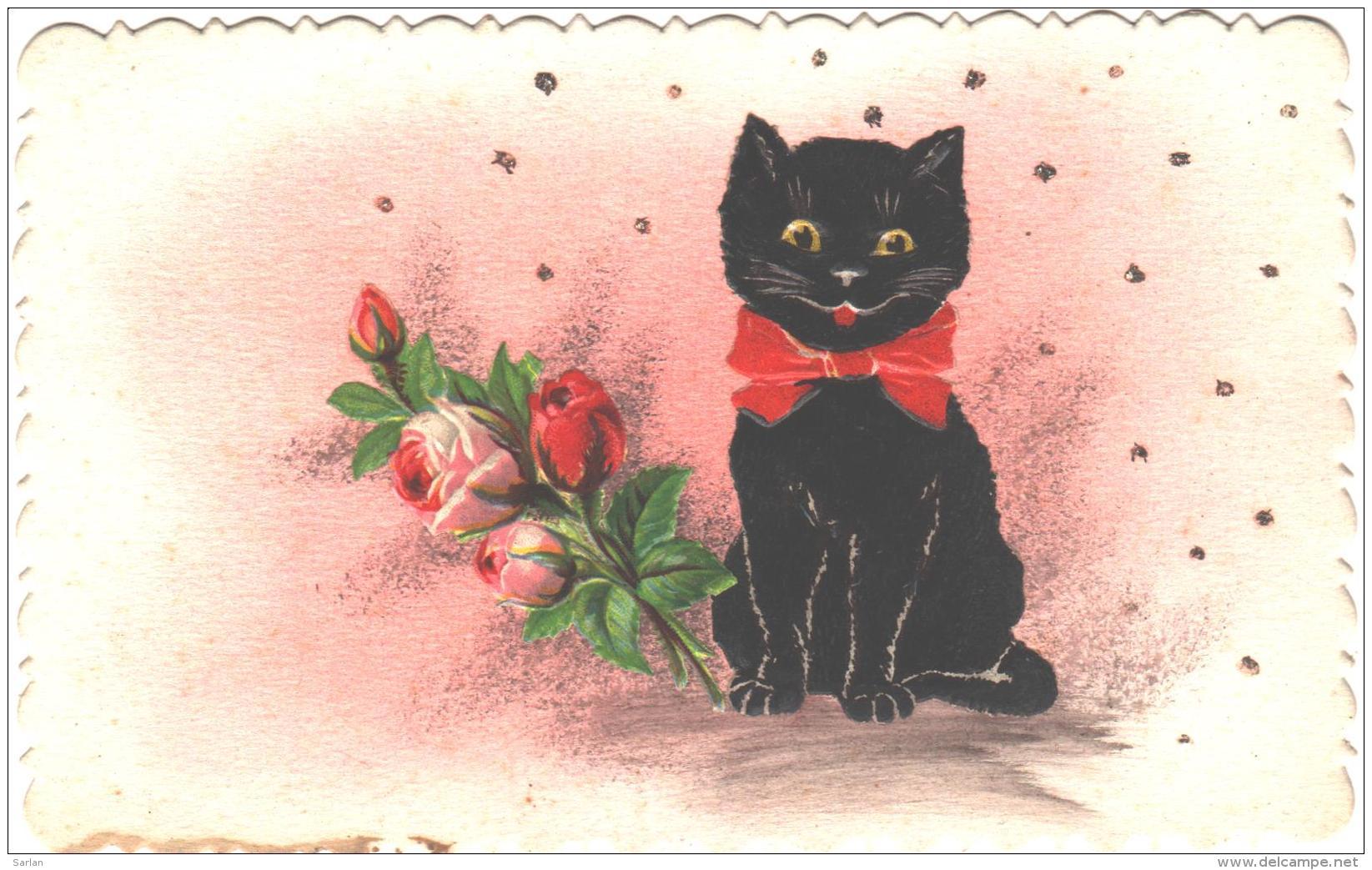 Chat Noir , Chromo Collé , * 262 35 - Chats
