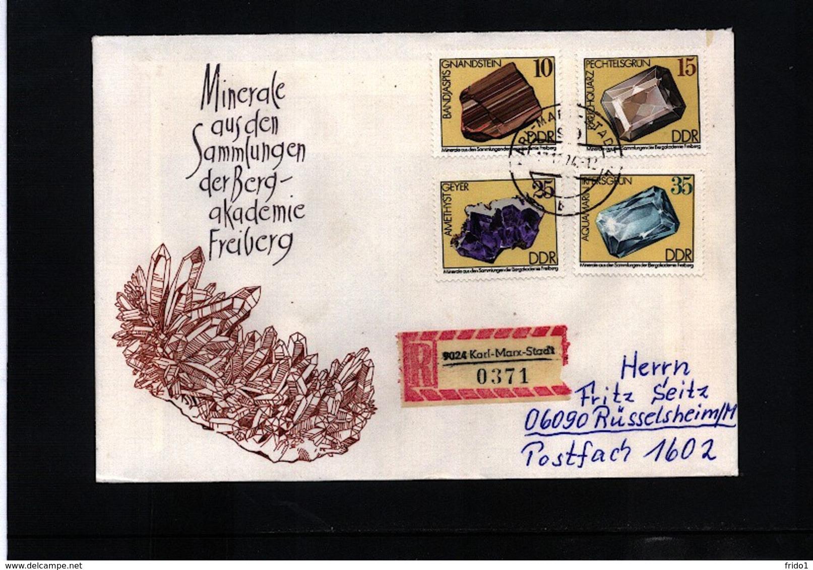 Germany DDR Minerals Interesting Registered Letter - Mineralien