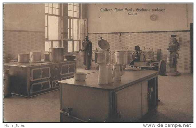 Godinne Sur Meuse - Collège Saint-Paul - Cuisine - Pas Circulé - Animée - TBE - Yvoir - Yvoir