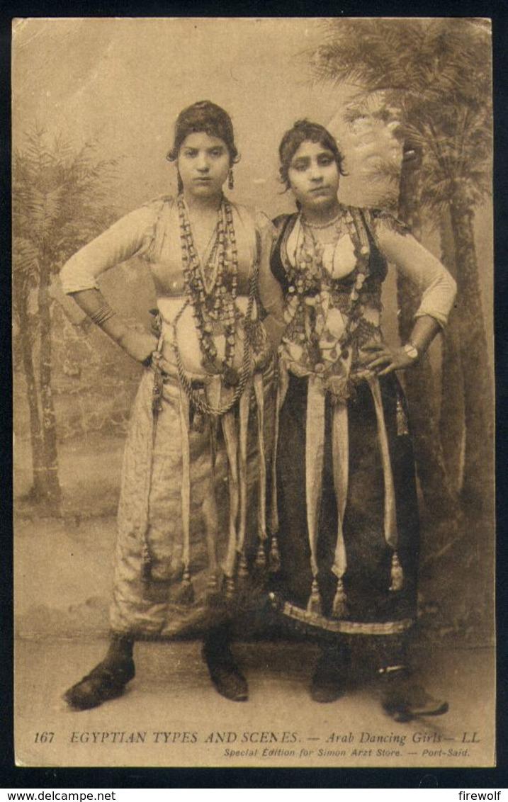 X01 - Egypt - Types And Scenes 167 - Arab Dancing Girls - Used Yercaud India To Nederbrakel Belgium - Ägypten