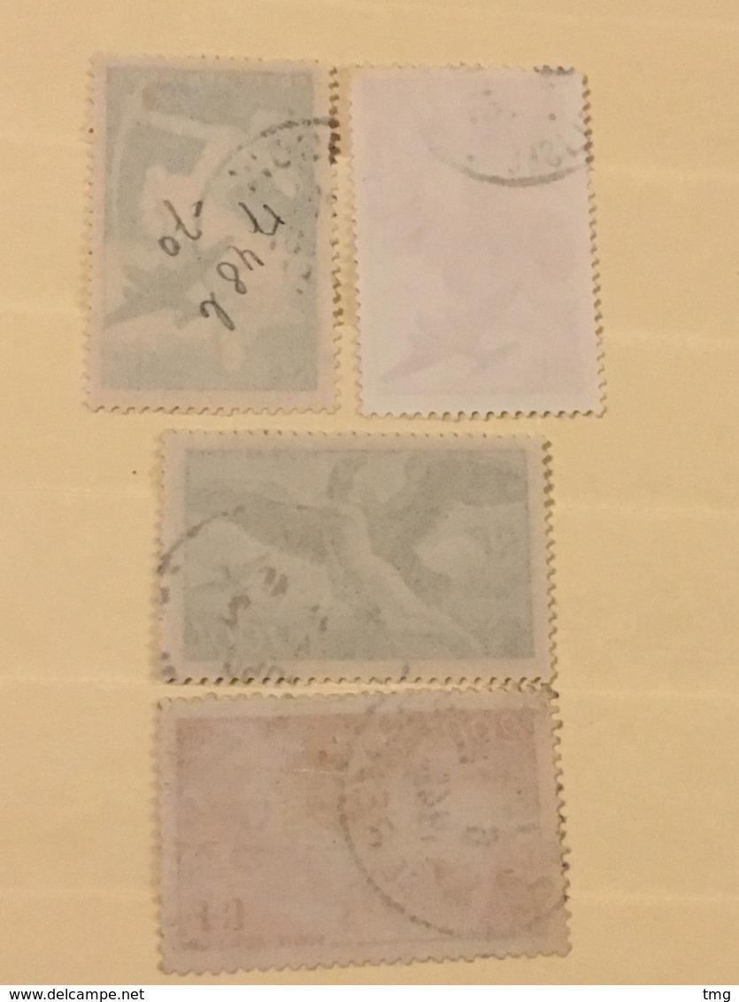 YT 16 à 19 Poste Aérienne (°) 1946-47 Série Mythologique (côte 7 Euros) – 275 - Luftpost