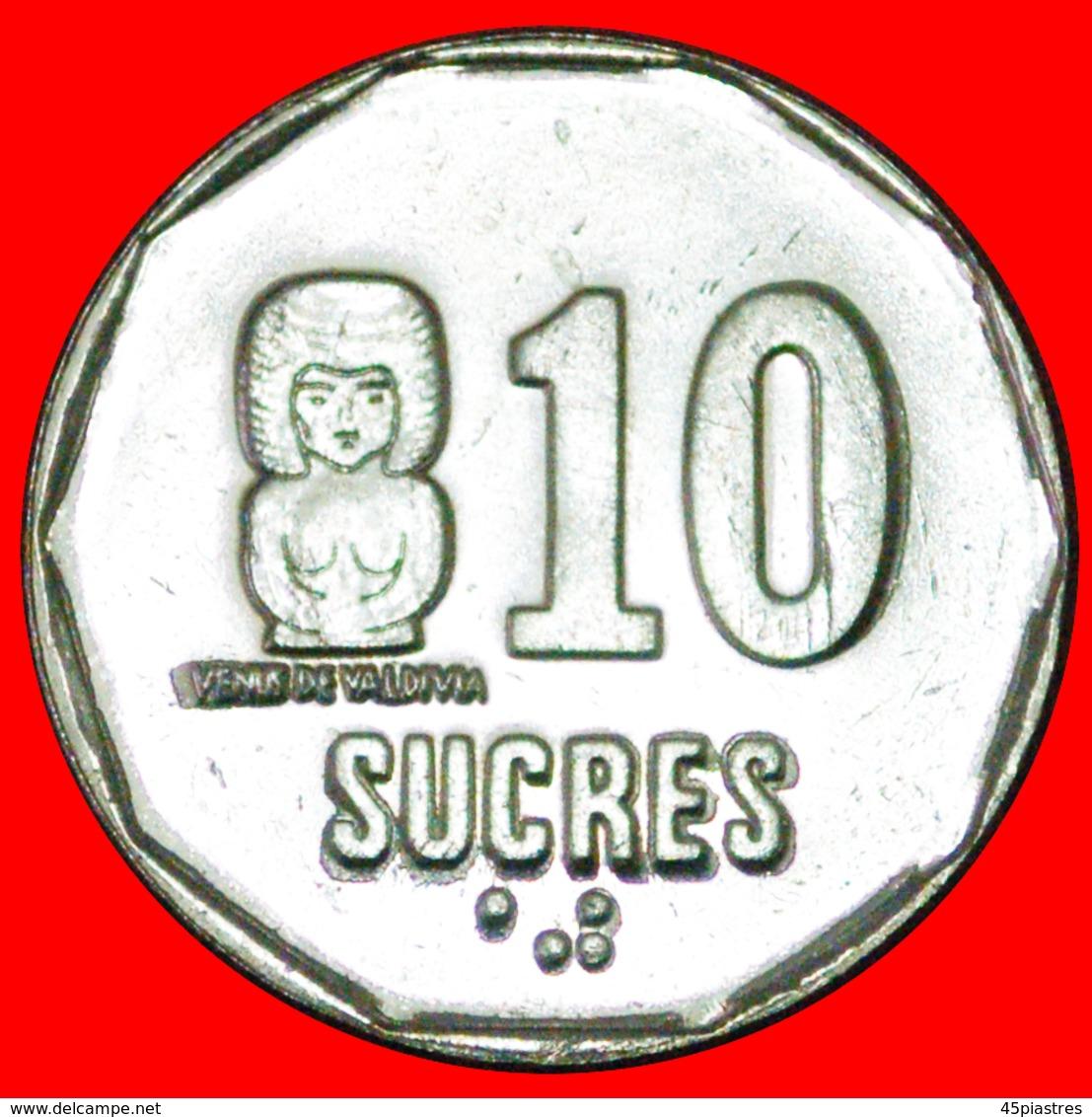 # CANADA: ECUADOR ★ 10 SUCRES 1991 MINT LUSTER! LOW START ★ NO RESERVE! - Ecuador