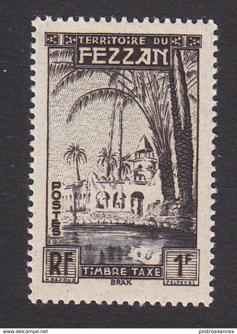 Fezzan, Scott #2NJ1, Mint Never Hinged, Oasis Of Brak, Issued 1950 - Fezzan (1943-1951)