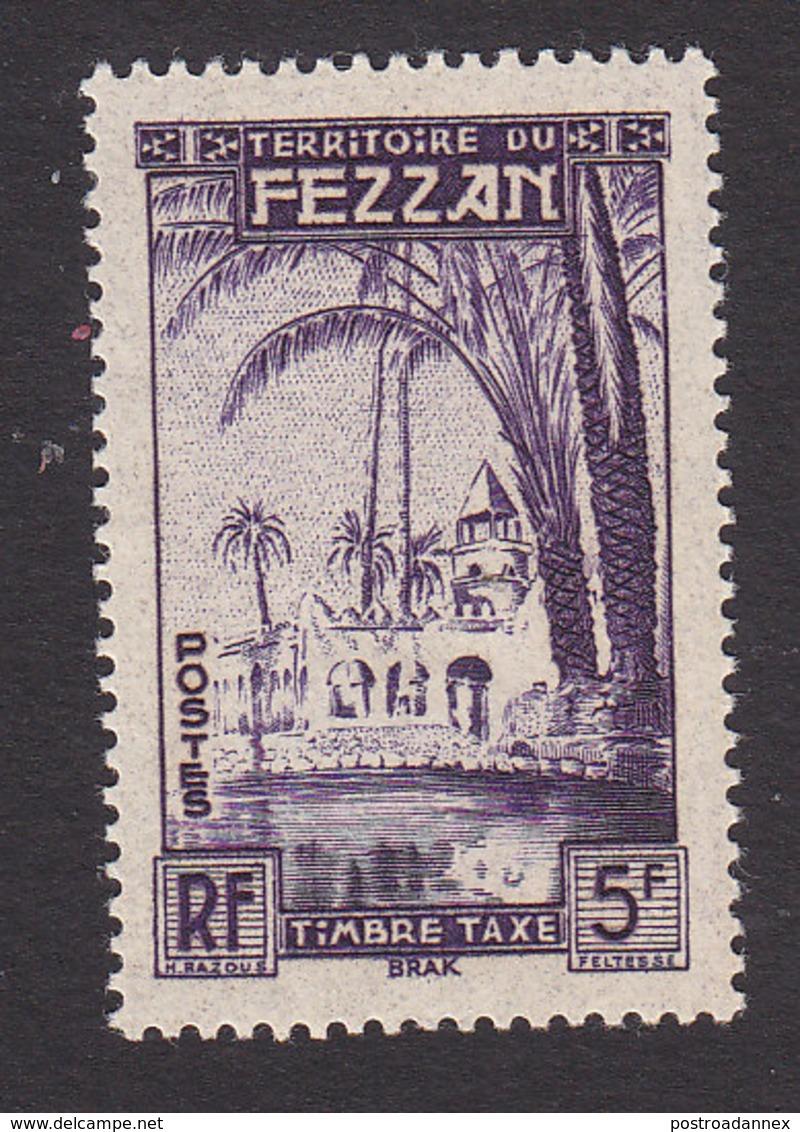 Fezzan, Scott #2NJ4, Mint Never Hinged, Oasis Of Brak, Issued 1950 - Fezzan (1943-1951)