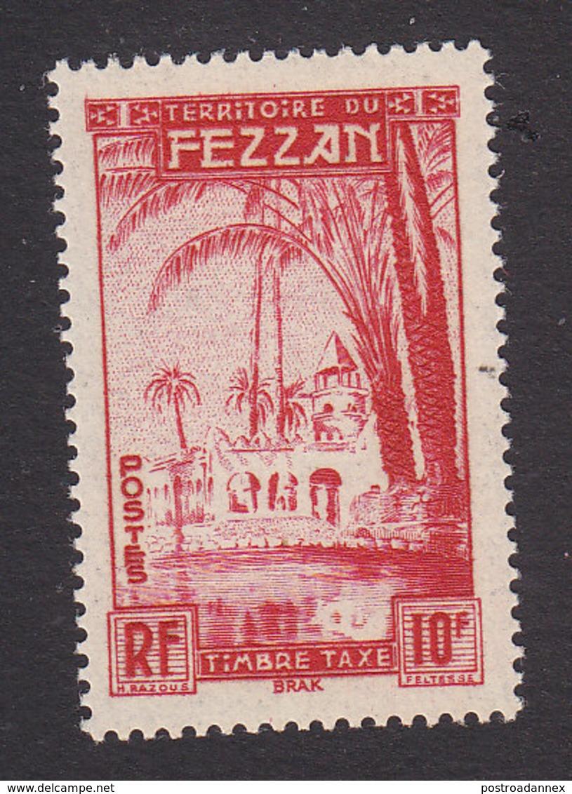 Fezzan, Scott #2NJ5, Mint Never Hinged, Oasis Of Brak, Issued 1950 - Fezzan (1943-1951)