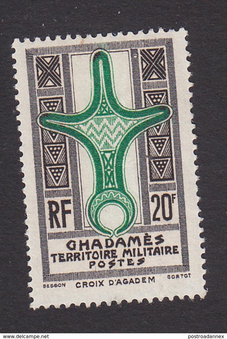 Fezzan, Scott #3N7, Mint Hinged, Cross Of Agadem, Issued 1949 - Fezzan (1943-1951)
