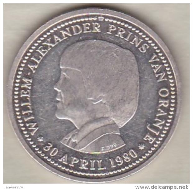 Medaille . Willem-Alexander Prins Van Oranje 30 April 1980, En Argent - Zonder Classificatie