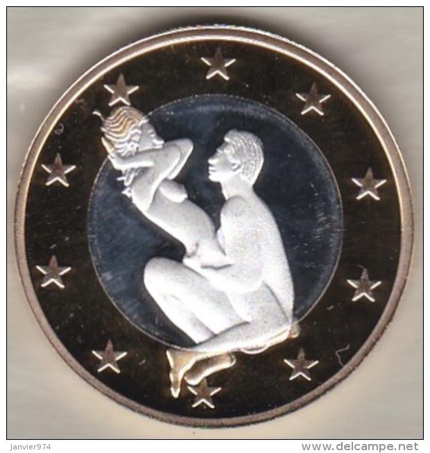 Jeton/ Token  Erotique Bimétal 6 SEX GURO - Jetons & Médailles