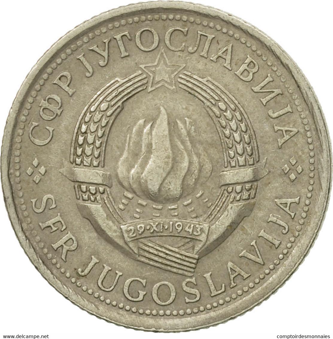 Monnaie, Yougoslavie, Dinar, 1977, TB+, Copper-Nickel-Zinc, KM:59 - Joegoslavië