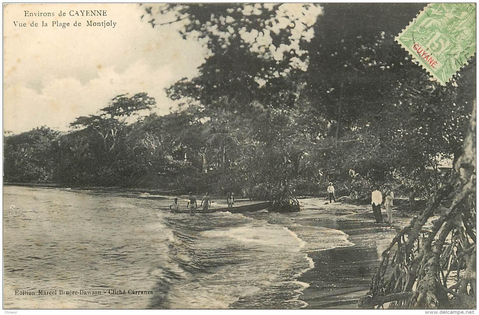 GUYANE ENVIRONS DE CAYENNE VUE DE LA PLAGE DE MONTJOLY - Guyane