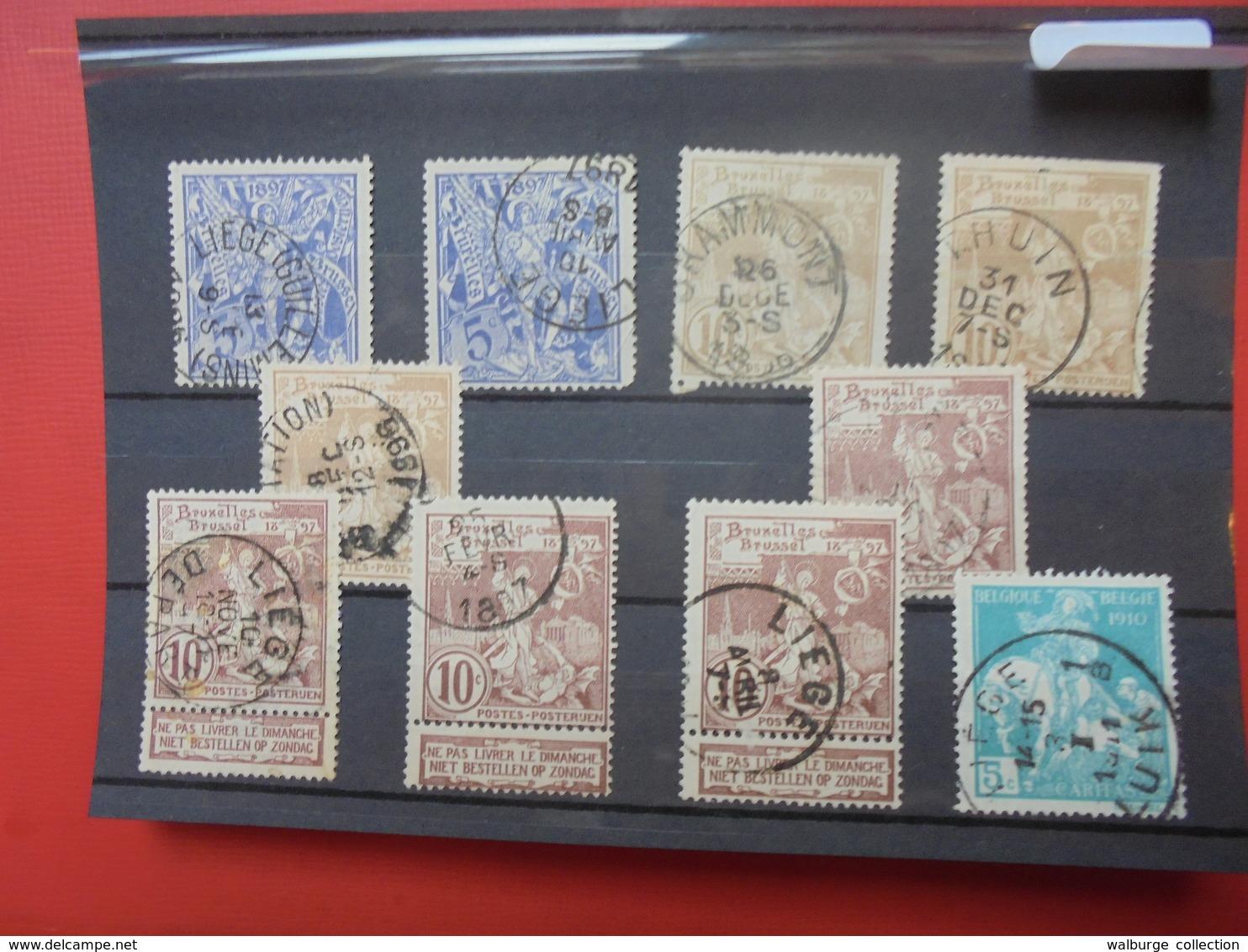 BELGIQUE N°71+72+73+90 OBLITERES-JOLIE SELECTION(416) - Collections