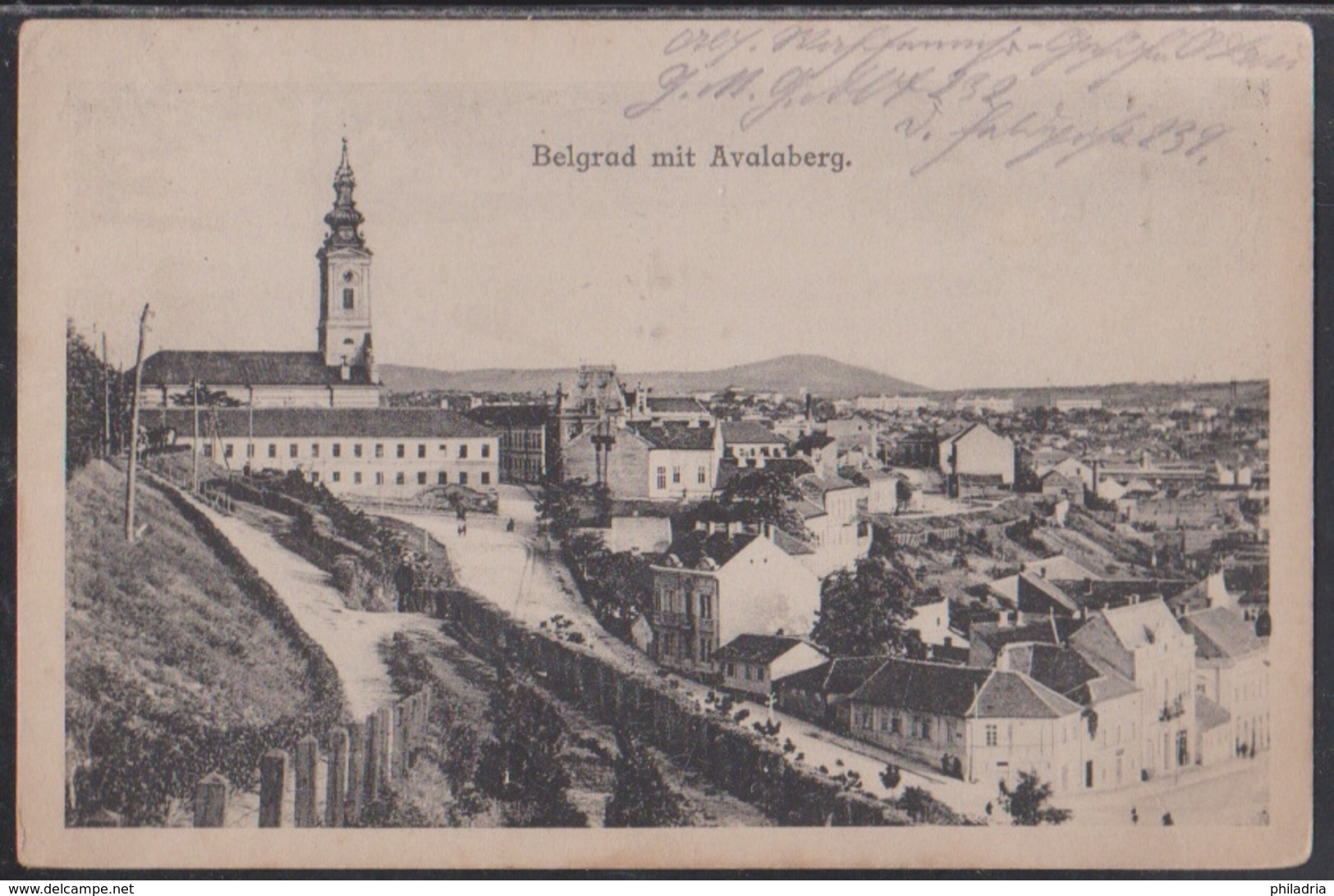 Beograd, Avala, German Fieldpost, Mailed In 1918 - Serbia