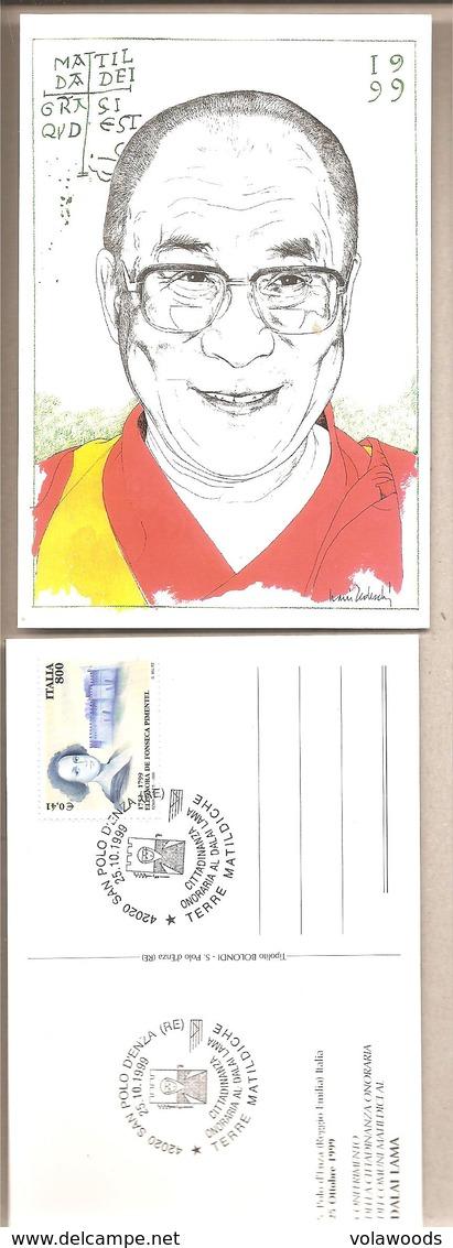 Italia - Cartolina Con Annullo Speciale: Cittadinanza Onoraria Al Dalai Lama 1999 * G - Buddhism