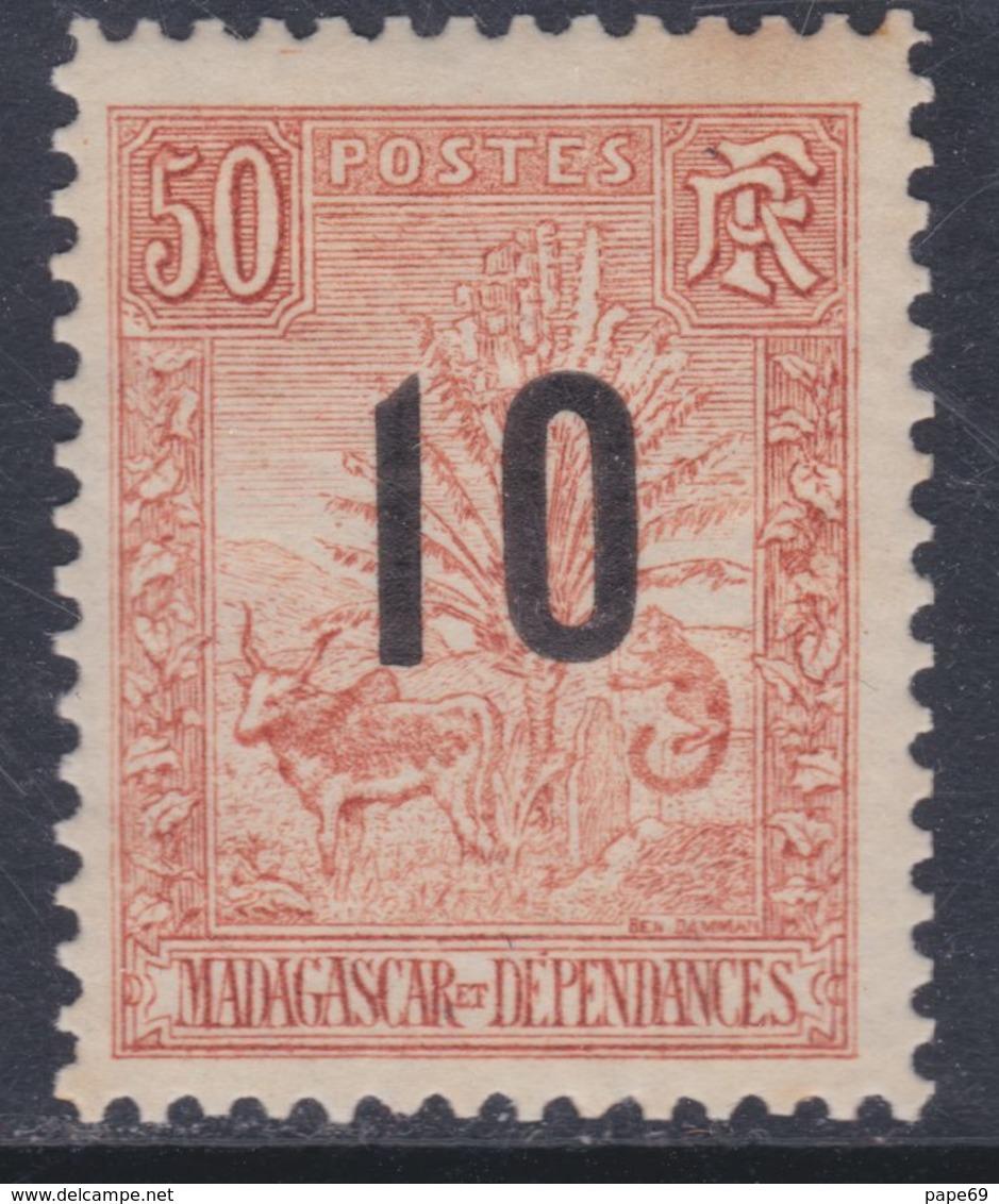 Madagascar N° 119 XX Partie De Série :Timbres 1896 / 1900 Surchargés : 10 Sur 50 C.  Sans Charnière, TB - Madagascar (1889-1960)