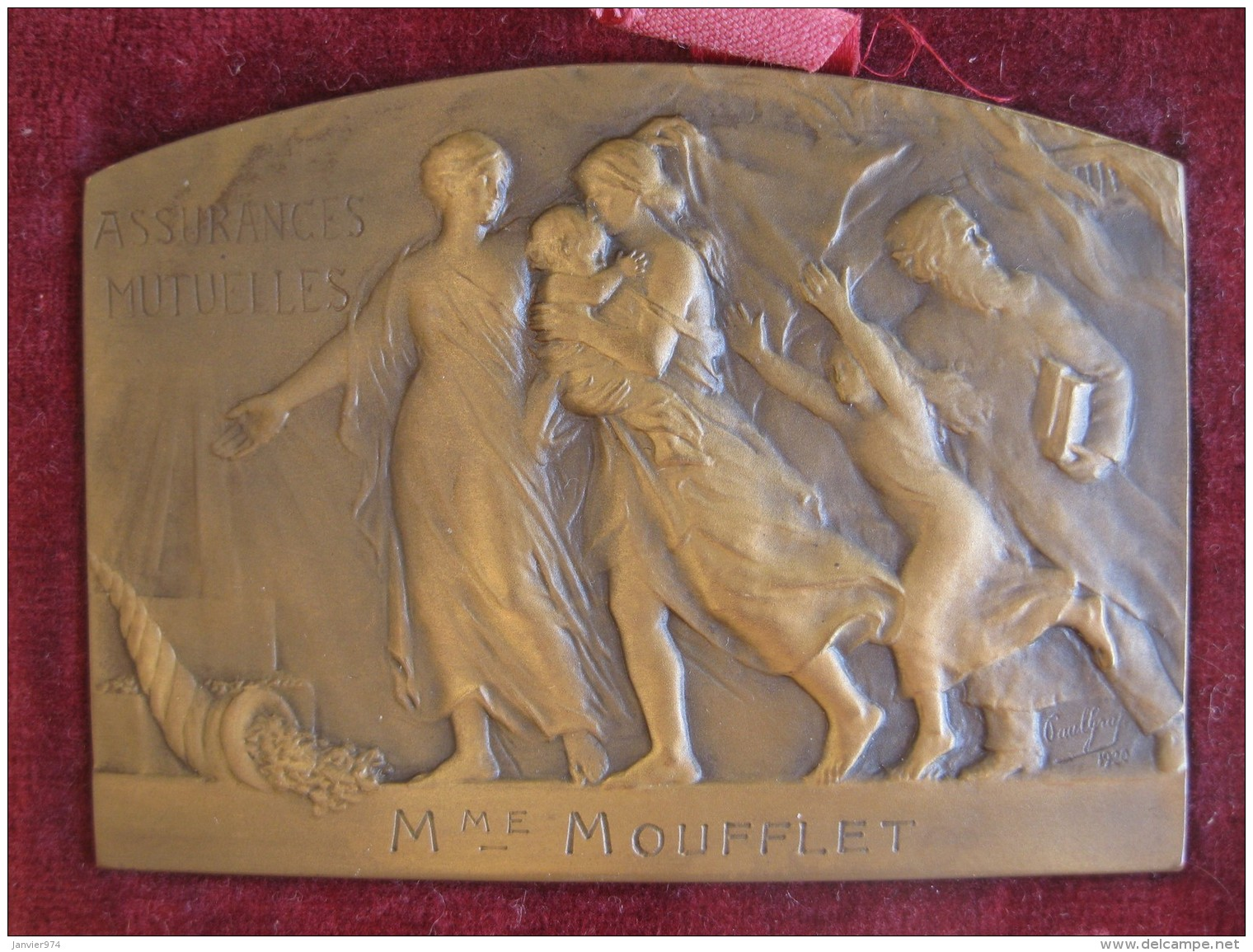 Médaille Centenaire Assurances Mutuelles 1919, Offert à Moufflet, Par Paul Graf - France