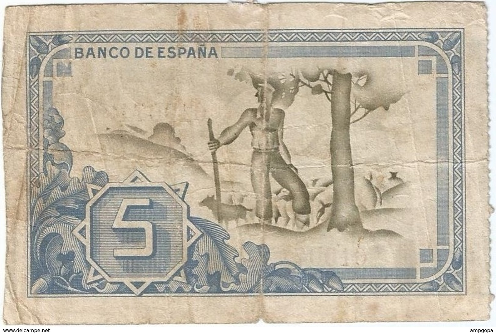 España - Spain 5 Pesetas Bilbao 1-1-1937 Pk-s 561 1.g Caja De Ahorros Vizcaína Sin Serie Ref 1425-2 - [ 3] 1936-1975 : Régence De Franco