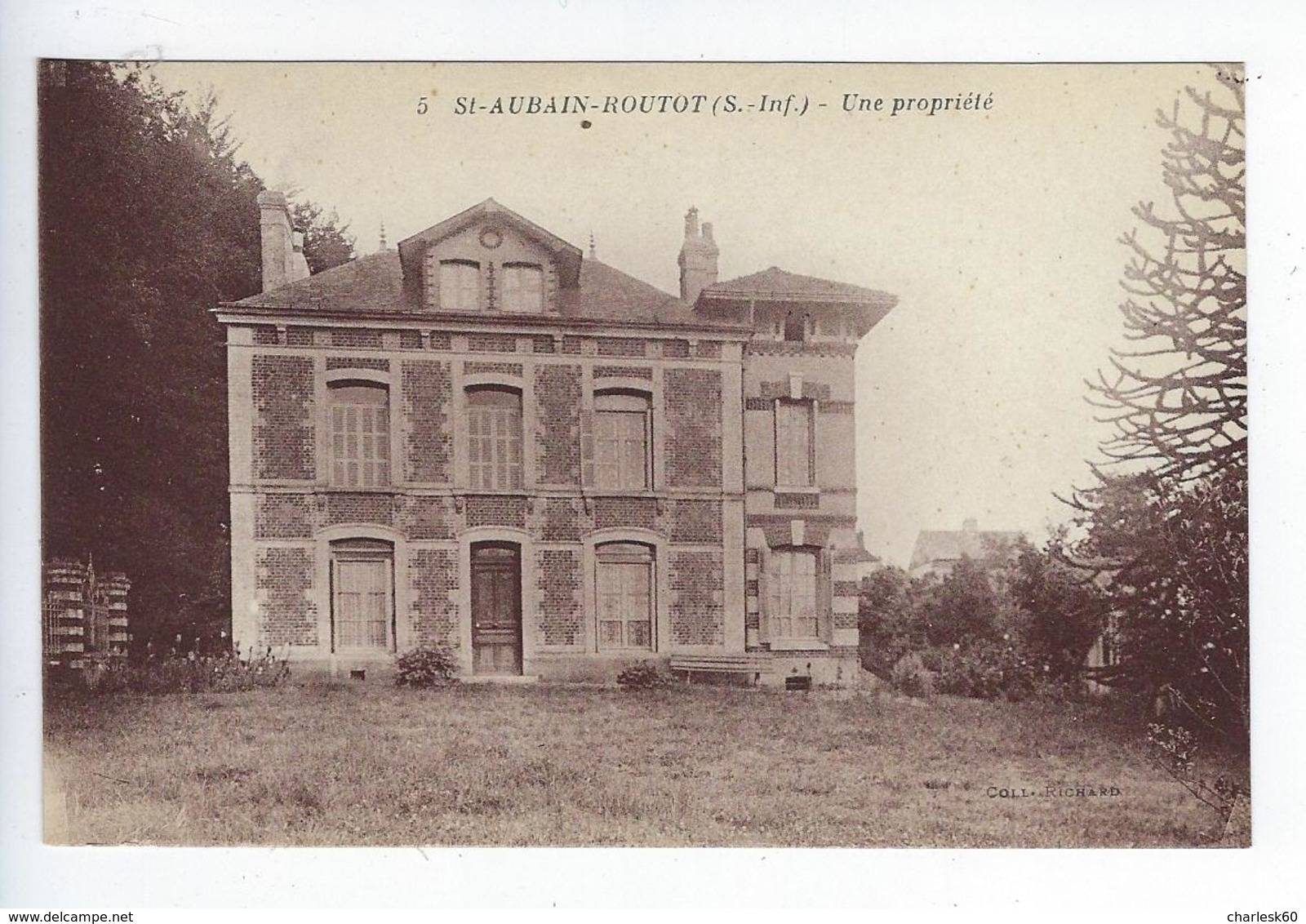 27 CPA Saint Aubin Routot Une Propriété - Routot