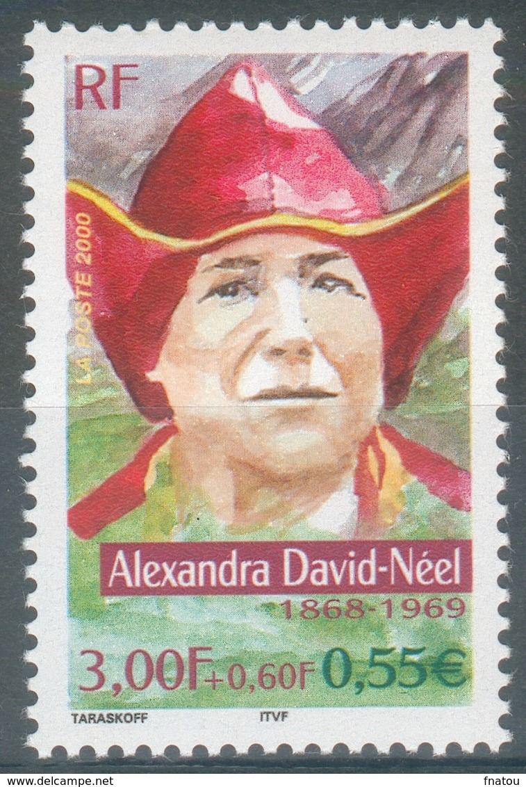 France, Alexandra David-Néel, Belgian-French Explorer, Buddhist, 2000, MNH VF - Francia