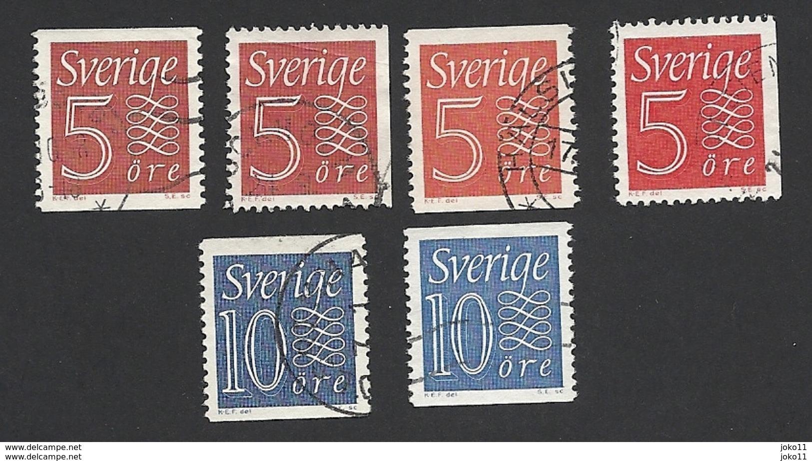 Schweden, 1957, Michel-Nr. 429-430 A+b, Gestempelt - Schweden