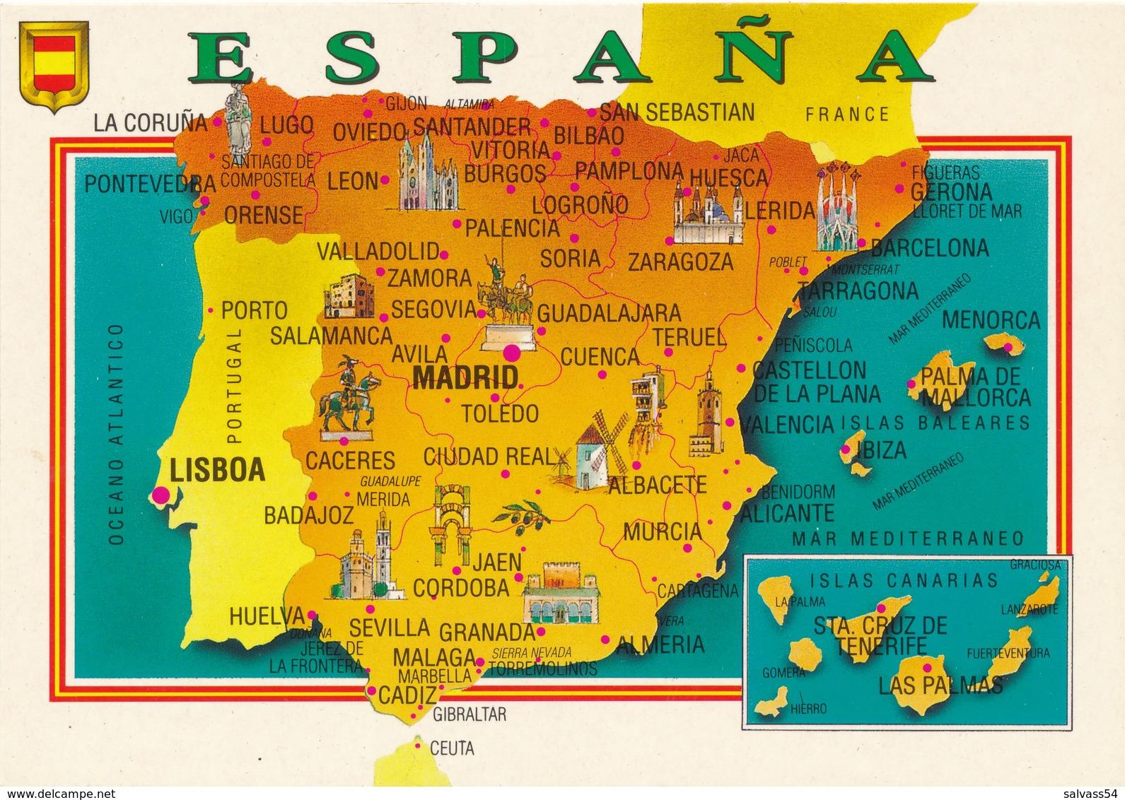 Carte Géographique - Pays - Espana - Espagne - Cartes Géographiques
