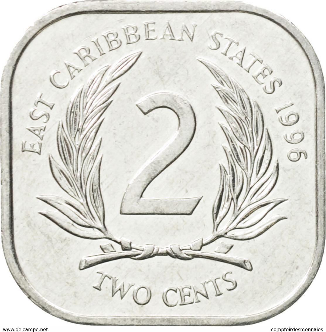 Monnaie, Etats Des Caraibes Orientales, Elizabeth II, 2 Cents, 1996, TTB - Caraïbes Orientales (Etats Des)