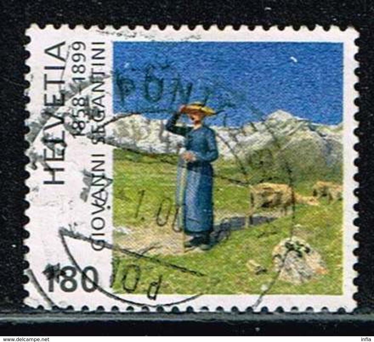 "Schweiz 1999, Michel# 1698 O ""Noon In The Alps"" By G. Segantini (1858-99) - Schweiz"