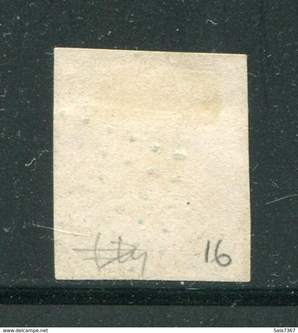 Y&T N°16- Ancre Bleue (signé Au Dos) - 1853-1860 Napoleon III