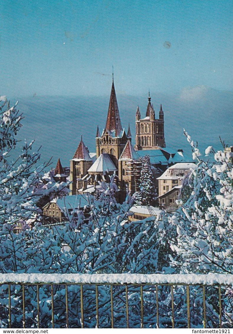 LAUSANNE LA CATHEDRALE SOUS LA NEIGE (dil127) - Suisse
