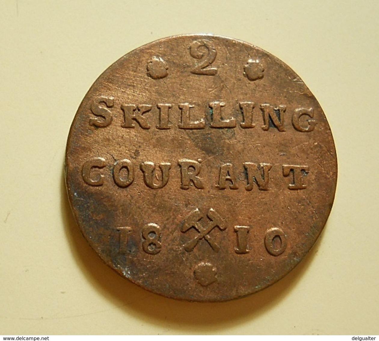 Norway 2 Skilling Courant 1810 - Noruega