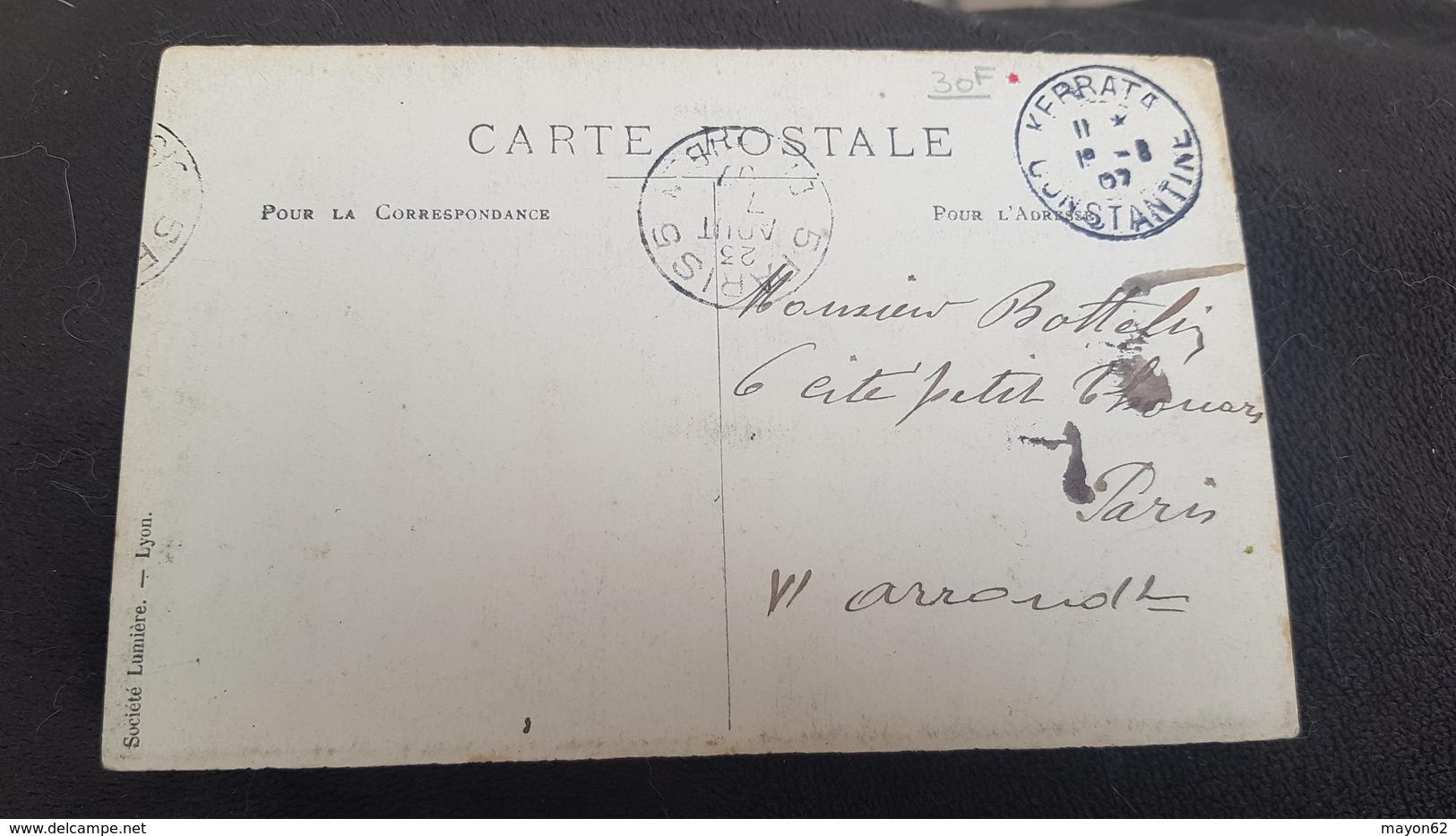 ALGER * ALGERIE - SUPERBE CARTE PHOTO NAVIRE / PAQUEBOT / MARINE MILITAIRE DEVANT ALGER 1907 - Algiers