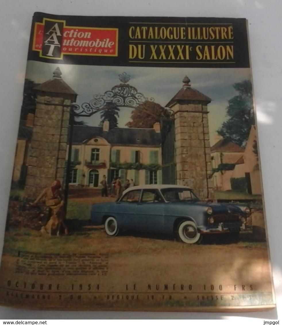 Action Automobile Octobre 1954 Spécial Salon 1954 2 CV Hotchkiss Delahaye Ferrari Aston Martin Scooters - Auto/Motor