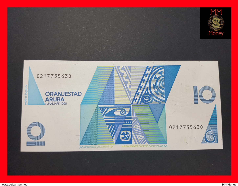 ARUBA 10 Florin 1.1.1990 P. 7 UNC - Aruba (1986-...)