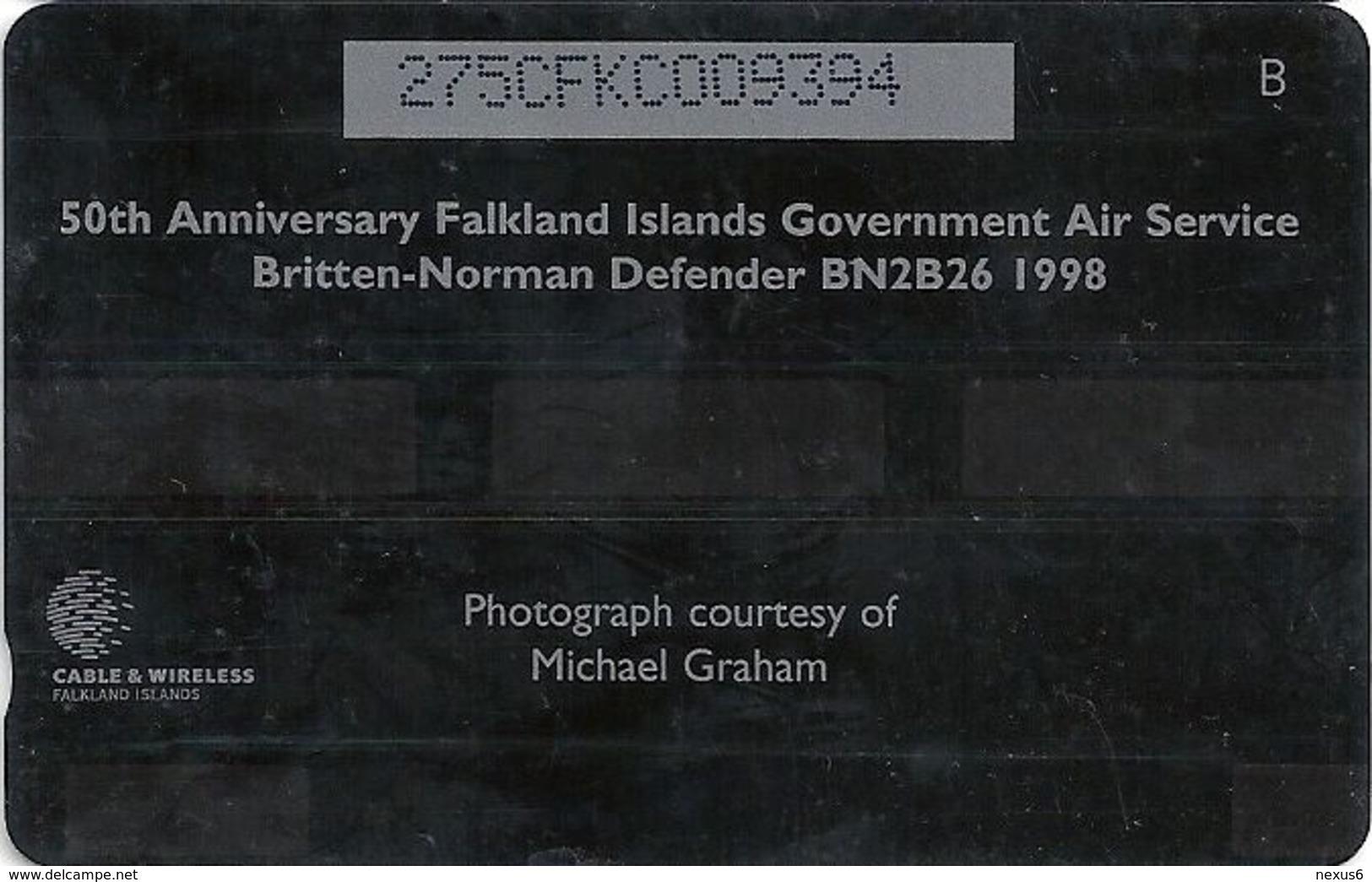 Falklands - Figas Fishery Patrol Britten-Norman Defender BN2B2, 275CFKC, 1999, 20.000ex, Used - Falkland Islands