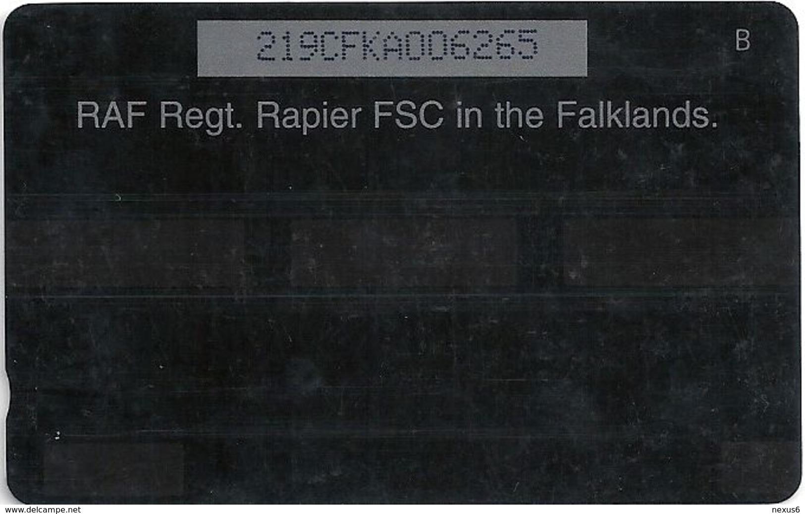 Falklands - Raf Regiment Rapier, 219CFKA, 1998, 10.000ex, Used - Falkland Islands