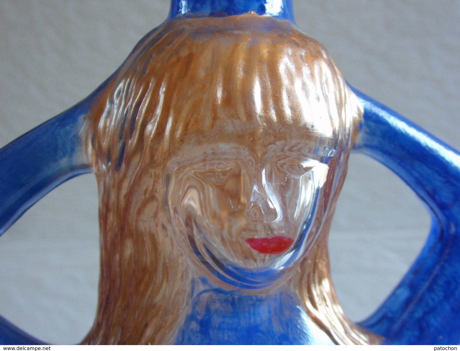 Bouteille Vide Erotique Alcool Espagne 1/2 Litre Peintures Pas D'origine. Hauteur Sans Bouchon 20,5cm. - Autres Bouteilles