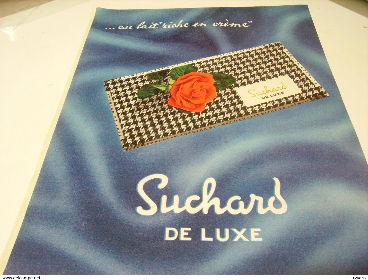 ANCIENNE PUBLICITE CHOCOLAT SUCHARD DE LUXE  1959 - Affiches