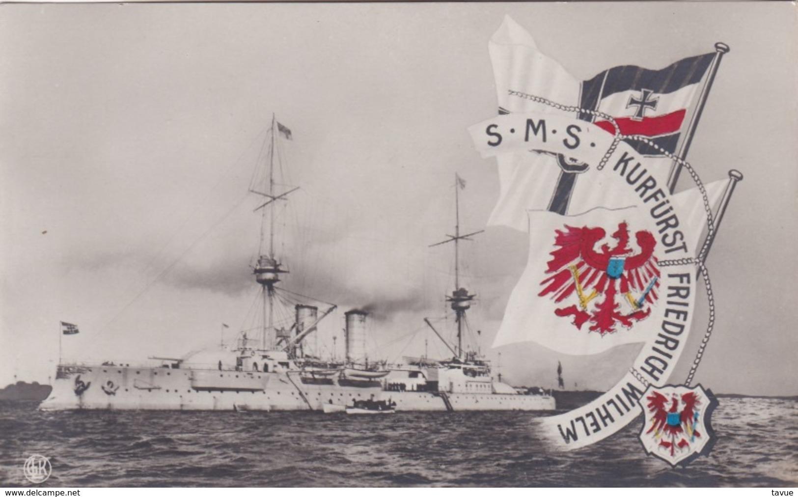Alte Ansichtskarte Von Der S.M.S. Kurfürst Friedrich Wilhelm - Ausrüstung