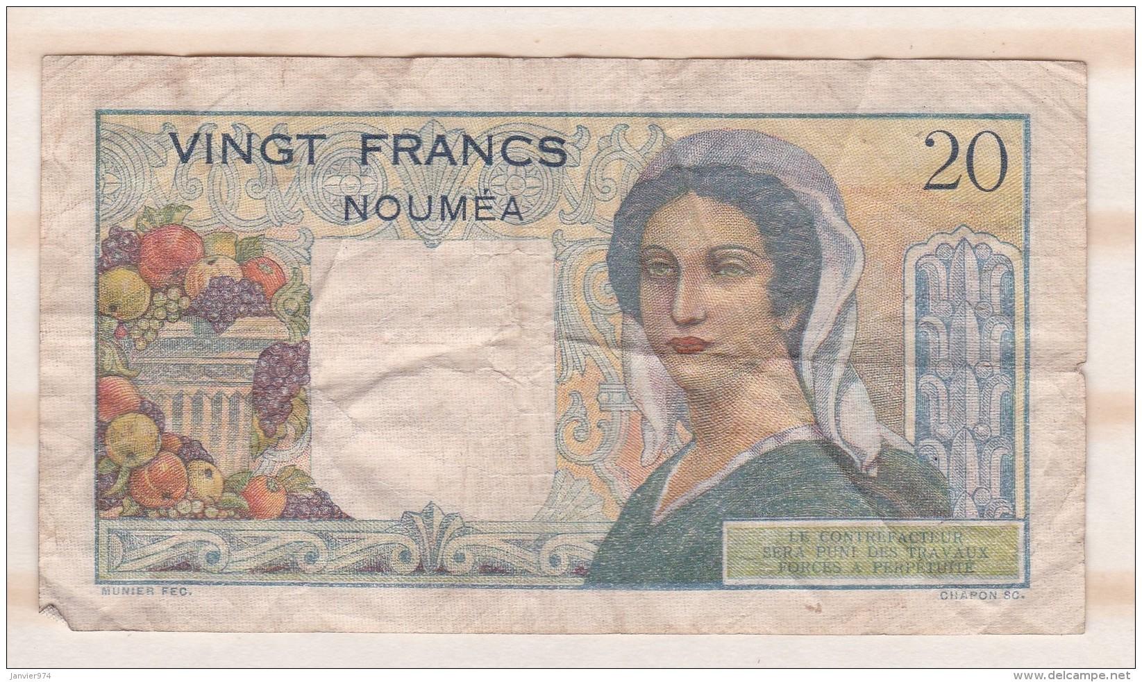 20 Francs NOUVELLE CALEDONIE - NOUMEA - Banque De L Indochine. Serie R.38 - Nouméa (New Caledonia 1873-1985)