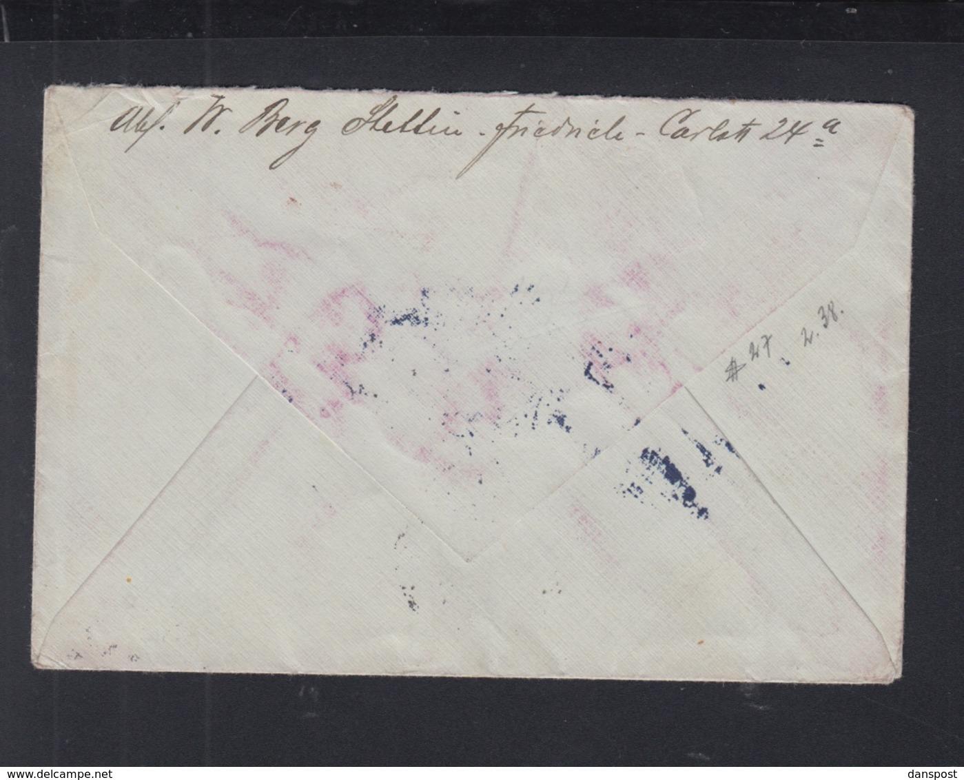 Dt. Reich Tauchboot Brief 1917 Stettin Nach USA Zurück - Germania