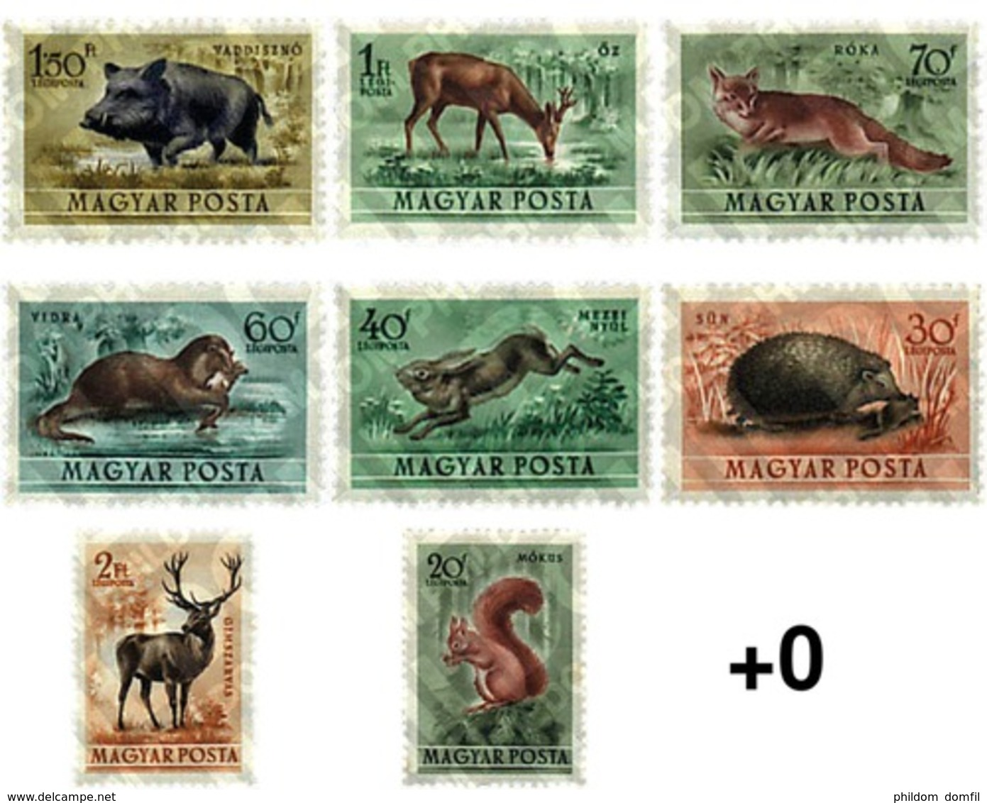 Ref. 63915 * MNH * - HUNGARY. 1953. FAUNA . FAUNA - Ungebraucht