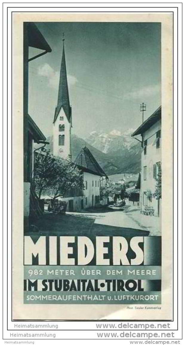 Mieders - Stubaital 30er Jahre - Faltblatt Mit 7 Abbildungen - Oesterreich