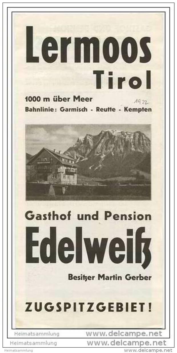 Lermoos - Gasthof Und Pension Edelweiss Besitzer Martin Gerber - Faltblatt 6 Abbildungen - Oesterreich