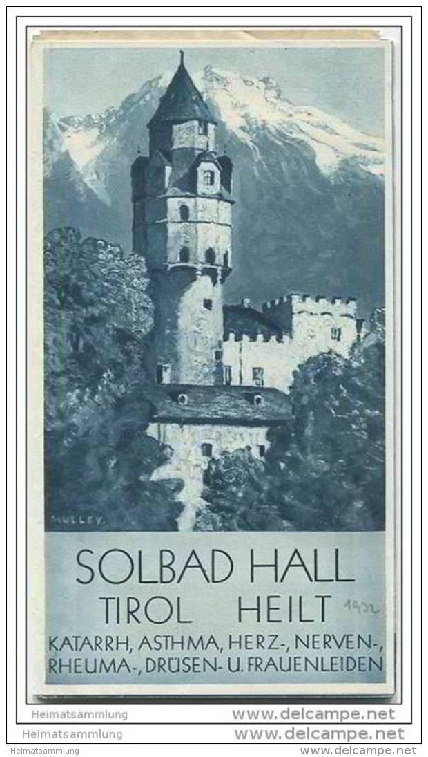 Hall In Tirol 30er Jahre - Faltblatt Mit 15 Abbildungen - Wohnungsliste 1932 - Oesterreich
