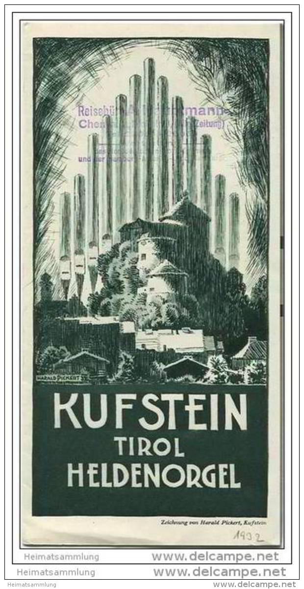 Kufstein - Heldenorgel 30er Jahre - Faltblatt Mit 13  Abbildungen - Oesterreich