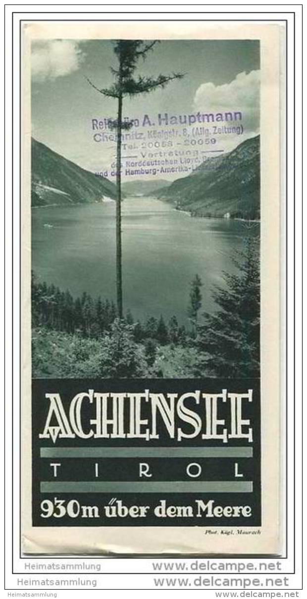 Achensee 30er Jahre - Faltblatt Mit 20 Abbildungen - Hotel Und Gaststättenverzeichnis - Oesterreich