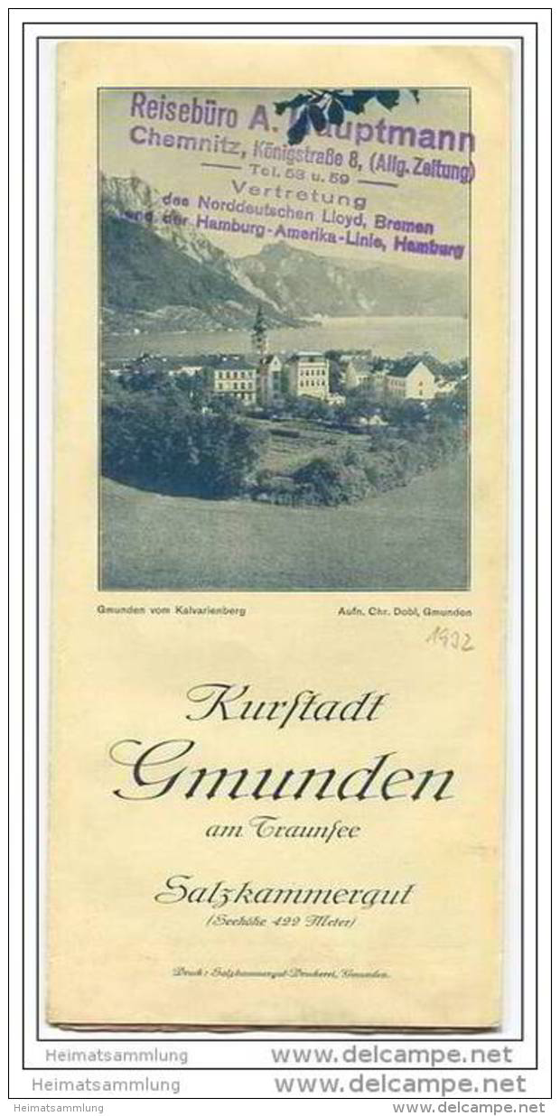 Gmunden 1931 - Faltblatt Mit 19 Abbildungen - Hotel- Und Gaststättenverzeichnis - Oesterreich