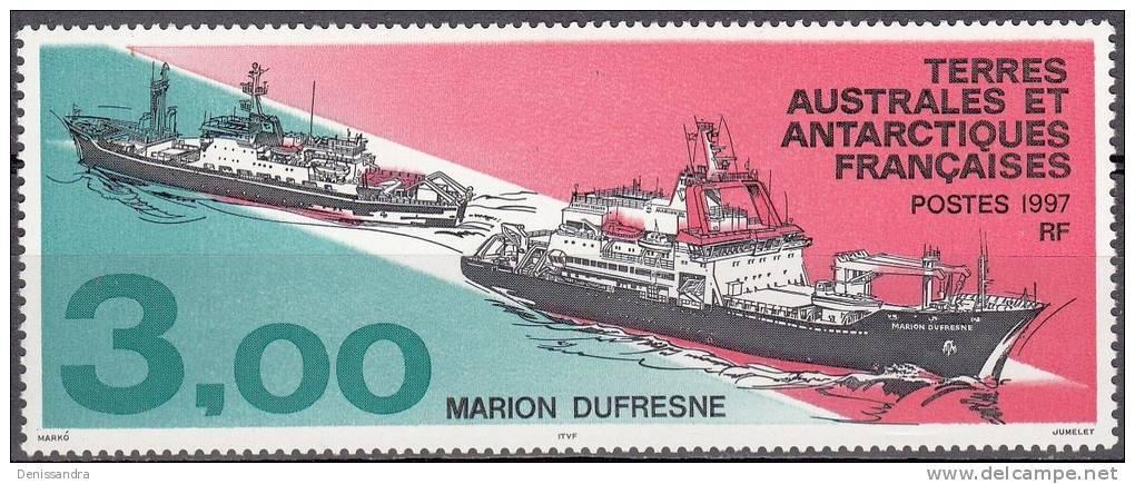 TAAF 1997 Yvert 215 Neuf ** Cote (2015) 2.50 Euro Bateau Marion Dufresne - Neufs