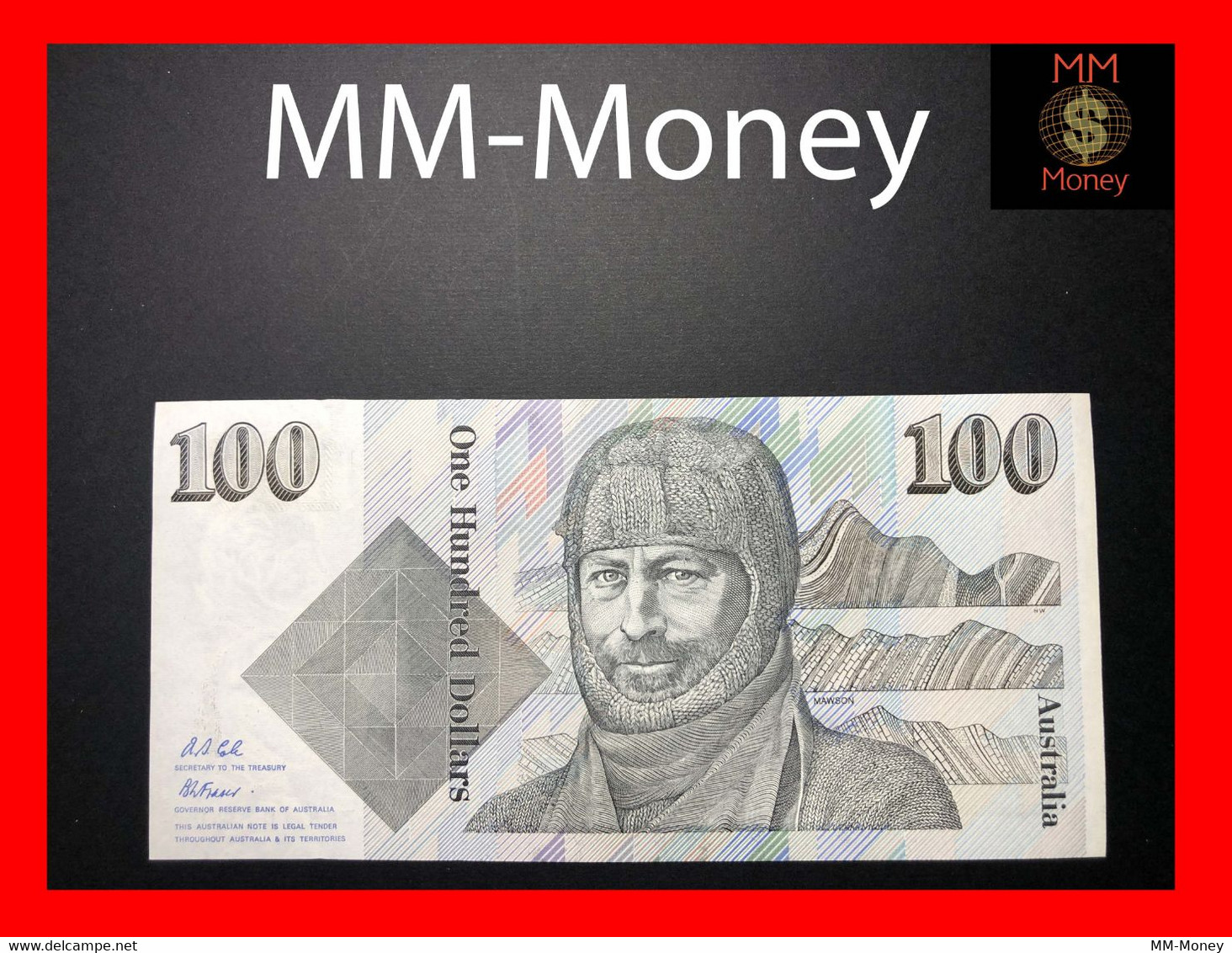 AUSTRALIA 100 $ 1992 P. 48 D - 1974-94 Australia Reserve Bank (paper Notes)