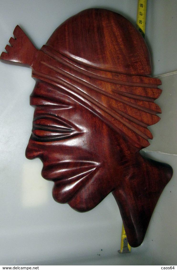 VOLTO DONNA LEGNO 24X14 CM. - Art Africain