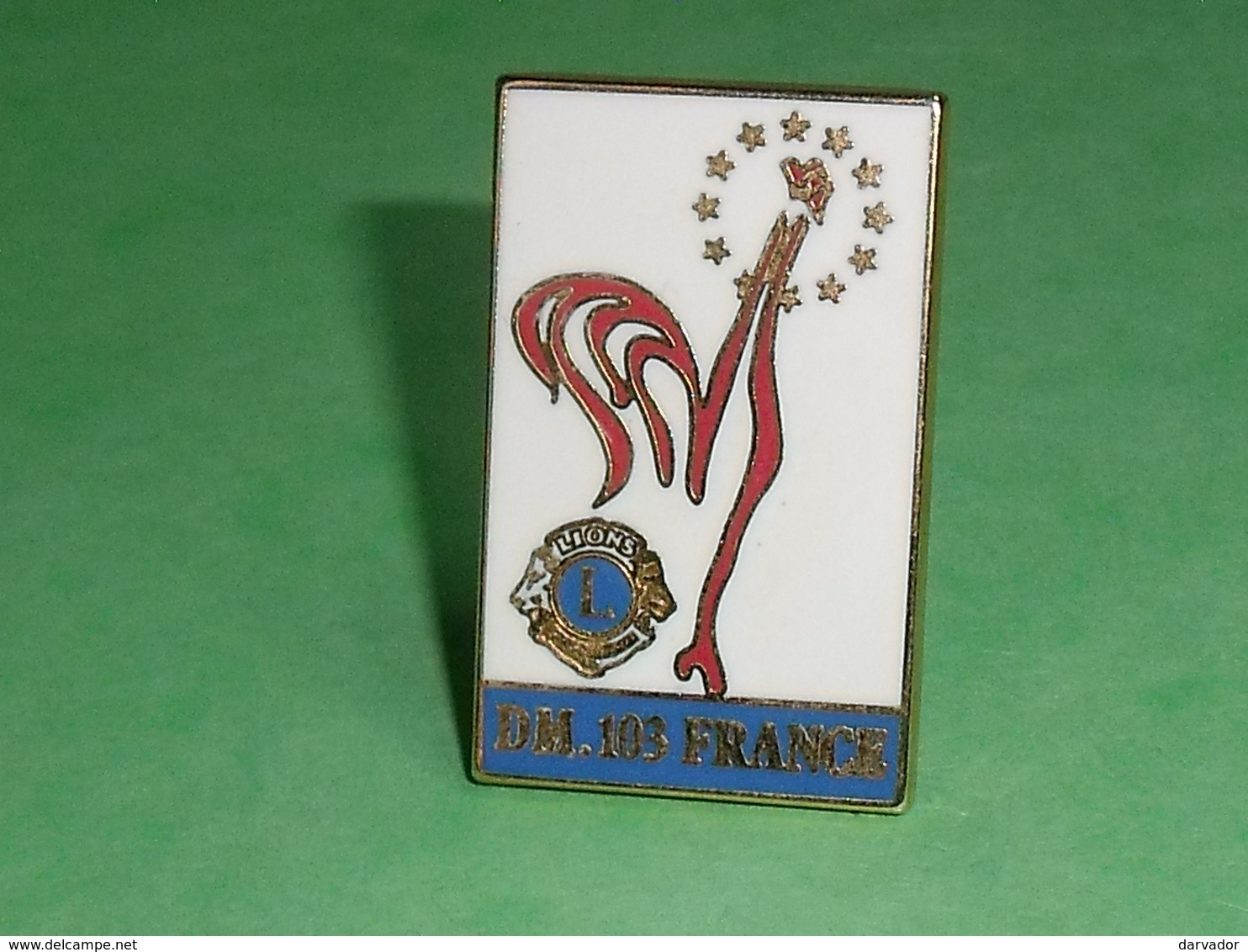 Pin's / Associations  : Lions Club , DM 103 FRANCE (verso Societe Melin ) ( 4 X 2.5 Cm ) TB1CC - Verenigingen